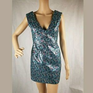 Topshop Confetti Sequin Holiday Party Dress 2 xs
